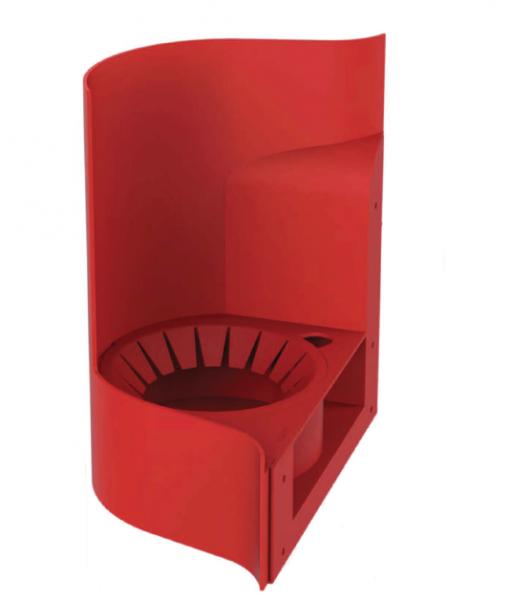 elegancki ergonomiczny pojemnik na gaśnicę